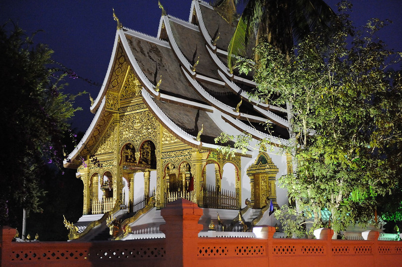 Early morning, Haw Pha Bang, Luang Prabang.