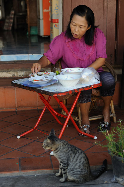 Breakfast in Luang Prabang.