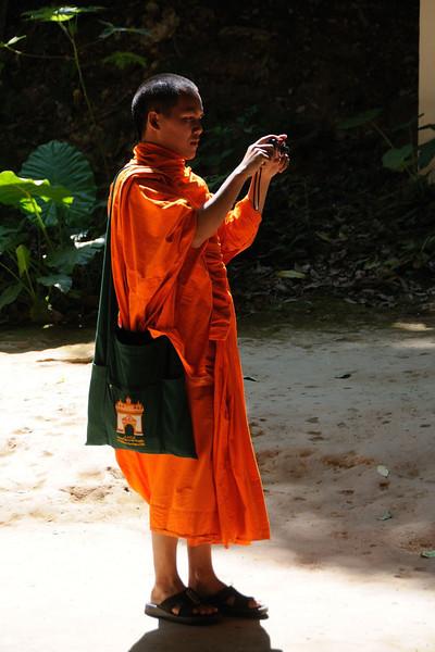Buddhist monk at Tat Kuang Si.