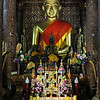 Wat Xieng Thong, Sitting Buddha Shrine, Luang Prabang, Laos.