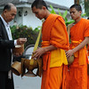 Early morning offering of alms in Luang Prabang.