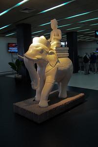 Sculpture at Siem Reap International Airport.
