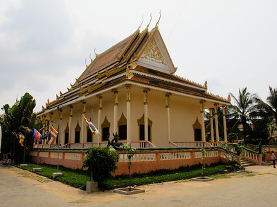 Temple at a monument in Siem Reap to the millions killed by the Khmer Rouge at killing fields throughout Cambodia.