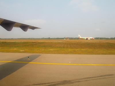 On the runway at Saigon.