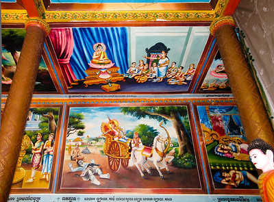 Cambodian Buddhist temple near The Killing Fields memorial in Siem Reap.
