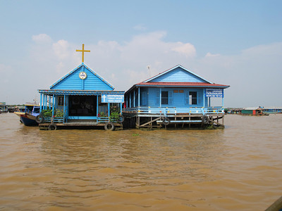 Floating Catholic Church in Tonle Sap Lake.