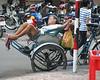 Cyclo driver, Pham Ngu Lao area, Saigon, Ho Chi Minh City, Vietnam