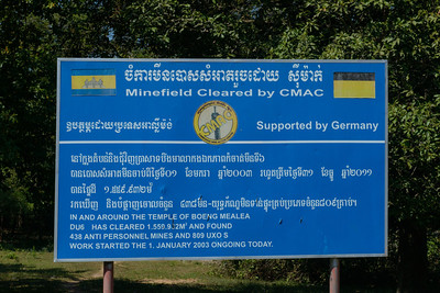 The damages caused by land mines are seen everywhere in Cambodia.