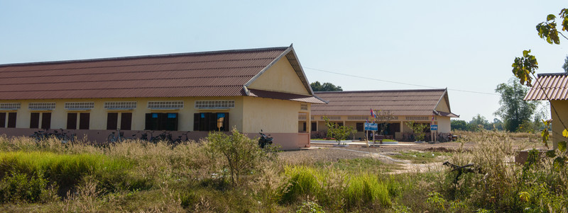 This area of rural Cambodia was cleared of land mines and the government has established housing areas and schools.