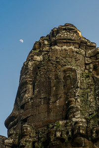 Angkor Thom. The faces on the Bayon Towers.