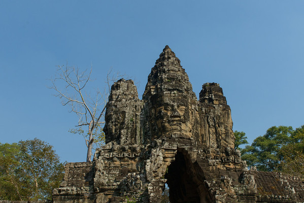 Angkor Thom. The south gate.
