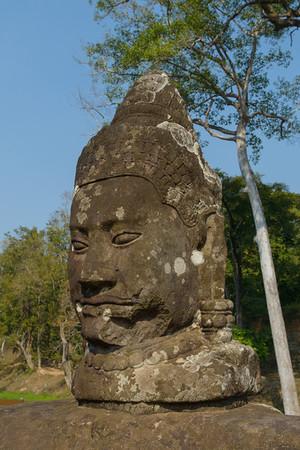 Angkor Thom. At the south gate.