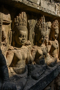 Angkor Thom. Leper King Terrace.
