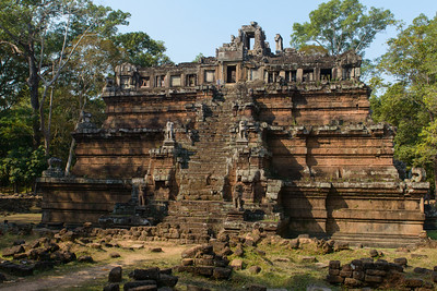 Angkor Thom. In the royal palace area. The temple Phimeanakas.