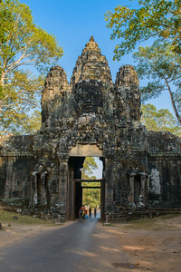 Angkor Thom. Victory Gate. Approaching from  the east.