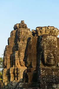 Angkor Thom. The faces on the Bayon Towers (the central feature in Angkor Thom).