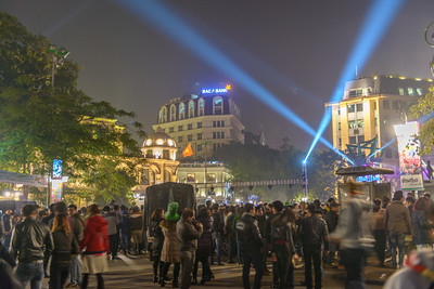 New Year's Eve concert in front of the Hanoi Opera.