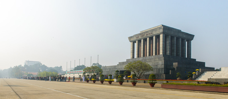 The tomb of Ho-Chi Minh.