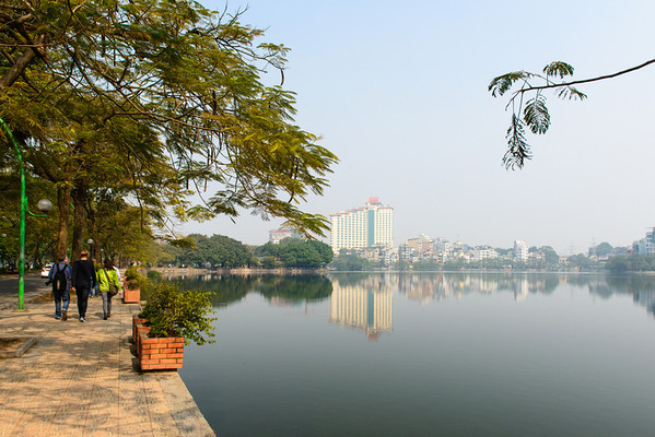 This is the lake in the middle of Hanoi where John McCain crashed his plane.