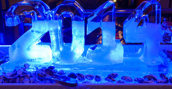 Ice sculpture in the Hanoi Opera Hilton hotel. We stayed there on New Year's Eve.