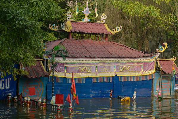 The water puppet show in the Museum of Ethnography.