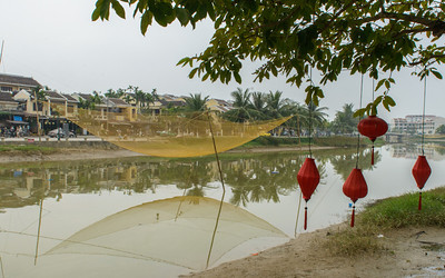 Dip nets in Hoi An