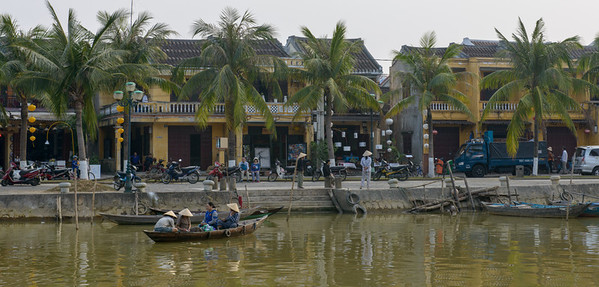 The river thoroughfare in Hoi An