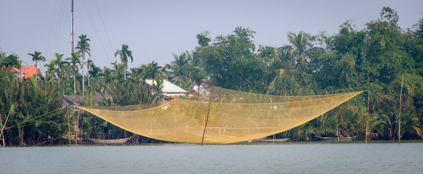 Dip nets, such as we have seen in India.