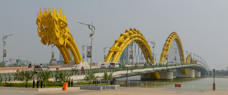 Dragon bridge over the Han River, Danang.