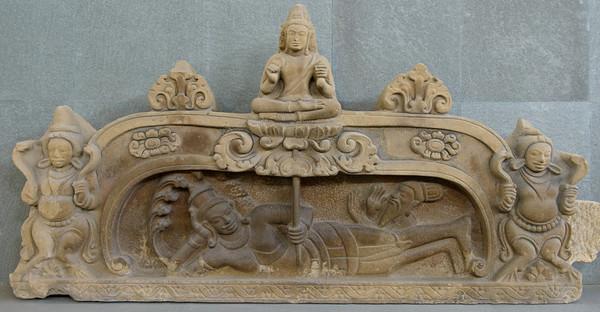 Cham sandstone sculpture.