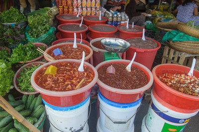 Market in Hue.
