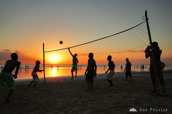 Volleyball on the Kuta beach