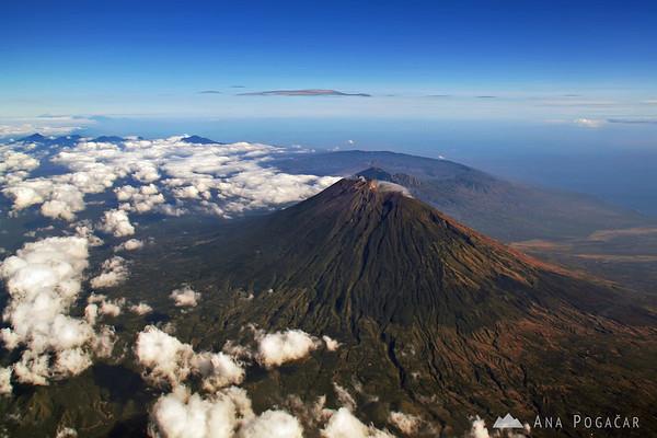 Flying over Bali