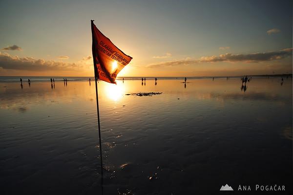 Sunset on the Kuta beach
