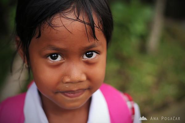 A schoolgirl in Ubud