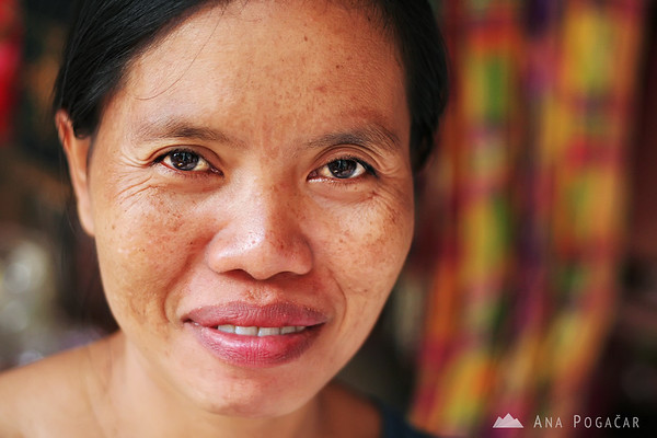 A woman at the market in Ubud