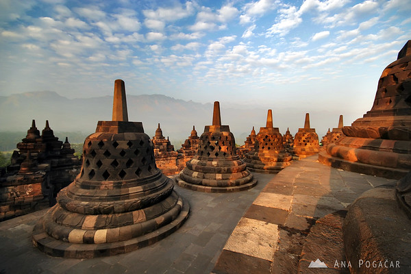 Borobudur after sunrise