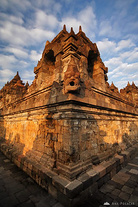 Along the long terraces of Borobudur