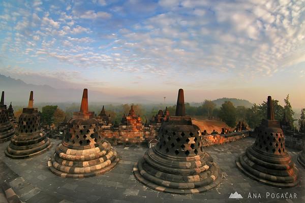 Borobudur after sunrise