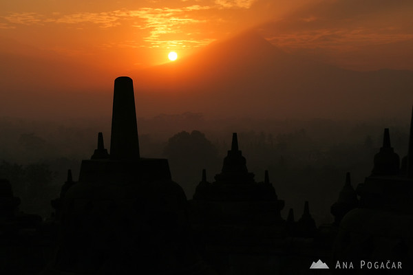 Borobudur at sunrise