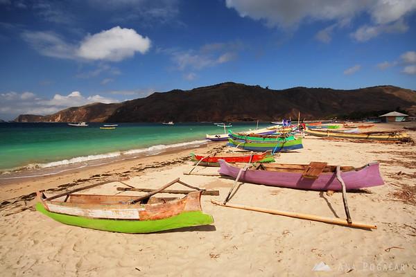 Boats on the Kuta beach