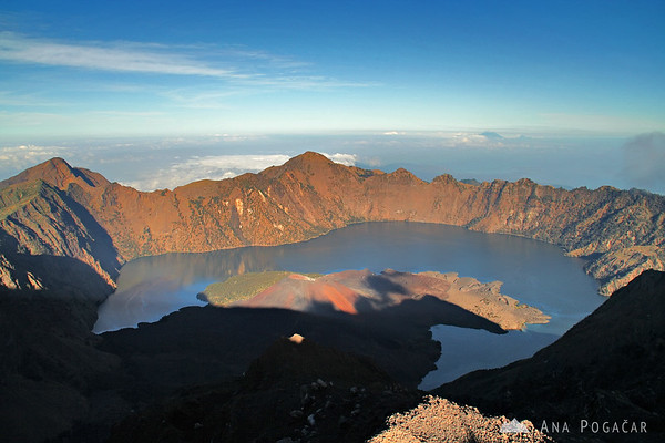 Crater lake of Mt. Rinjani