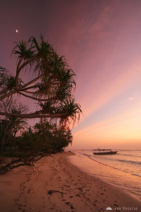 Before sunrise on the island of Gili Air off Lombok
