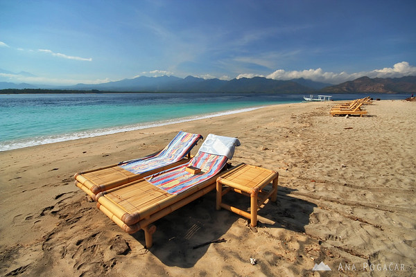 Sunbathing on Gili Air