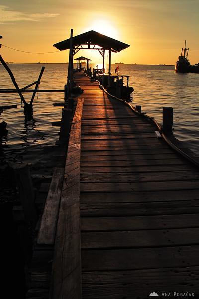 A pier in Makassar