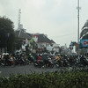 More motorbikes than cars on the streets of Jakarta.
