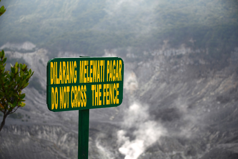 """Mt. Tangkuban Perahu is a volcano which has a distinctive shape, like an upside down boat. Tangkuban Perahu means """"up-turned boat"""""""