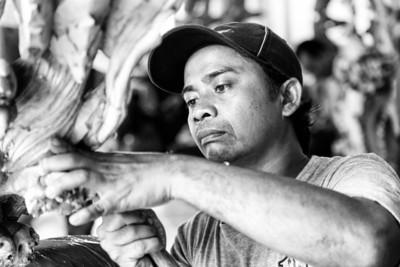 Wood carver, Ubud, Bali