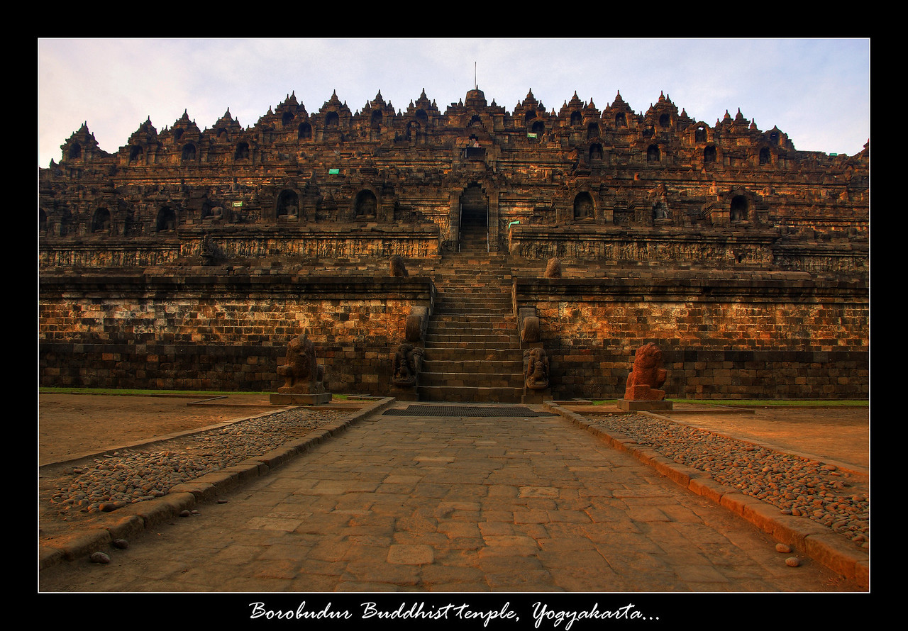We spent 2 days in Yogyakarta, and on our last day we did a sunrise tour to the temple of Borobudur which is a is a 9th-century Buddhist monument and a shrine to the Lord Buddha. This massive temple was easily as impressive as the temple of Angkor wat, and just as touristy within 5 minutes of taking this picture there was people everywhere making it impossible to get a shot off without someone in it...but still one of the most interesting spots we visited.