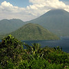 Tidore and Maitera volcanos seen from Ternate Island.